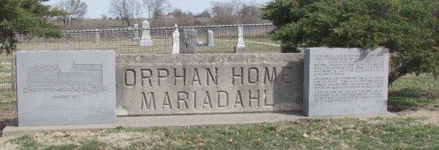 Mariadahl Orphan Home Monument in Olsburg