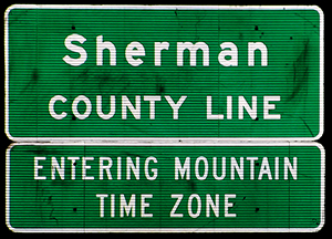 Mountain Time Zone sign