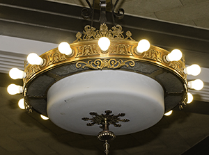 courtroom chandelier