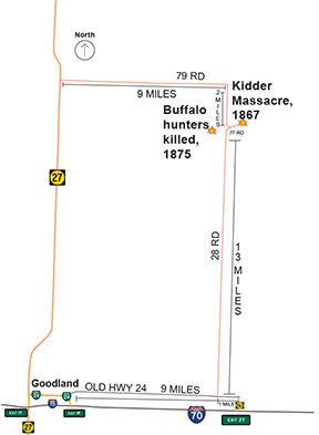 Kidder Massacre-buffalo hunters directions